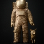 Spaceman-with-fox_bronze
