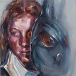 oT(Portrait-mit-Maske)-2015-Oel-auf-Leinwand-30x24cm
