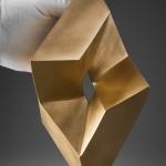 Rolling Cube, 2010, Bronze, 23 x 19 x 16 cm
